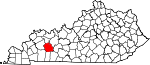 State map highlighting Muhlenberg County