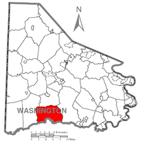 Map of Morris Township, Washington County, Pennsylvania Highlighted.png