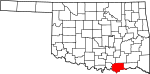 State map highlighting Bryan County