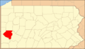 Map of Pennsylvania, Allegheny County Highlighted.png