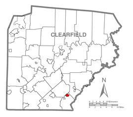 Map of Ramey, Clearfield County, Pennsylvania Highlighted.png