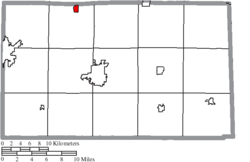 Location of Bettsville in Seneca County