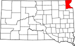 State map highlighting Roberts County