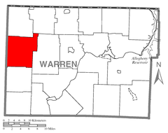 Map of Spring Creek Township, Warren County, Pennsylvania Highlighted.png