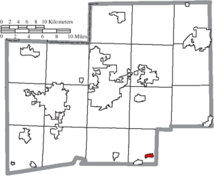 Waynesburg, Ohio - Image: Map of Stark County Ohio Highlighting Waynesburg Village