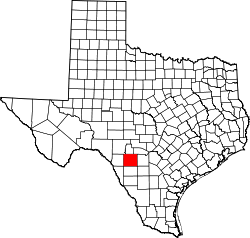 Map of Texas highlighting Uvalde County.svg