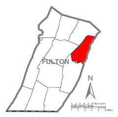 Map of Todd Township, Fulton County, Pennsylvania Highlighted.png
