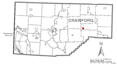 Map of Townville, Crawford County, Pennsylvania Highlighted.png