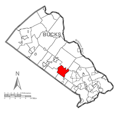 Map of Warwick Township, Bucks County, Pennsylvania Highlighted.png