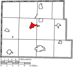 Montpelier, Ohio - Image: Map of Williams County Ohio Highlighting Montpelier Village