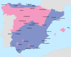 Spanish coup of July 1936 - Image: Map of the Spanish Civil War in July 1936