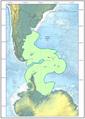 Mapa Argentino según presentación CLPC-ONU - 2009.png