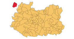 Ciudad Real Province with the enclave of Anchuras on the west