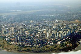 Gezicht op Maputo
