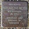 Stolperstein für Margarethe Meyer