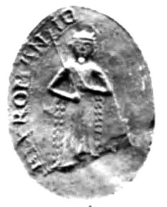 John of Brienne - Seal of John's second daughter, Marie, Empress Consort of the Latin Empire; John was senior co-emperor of her husband, Baldwin II.