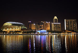 Marina Bay, Singapore - Marina Bay, with Marina Centre in the background.