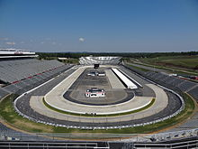 Photograph of the Martinsville Speedway in 2011 showing the entire layout of the track