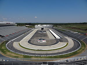 2015 STP 500 - Martinsville Speedway, the race track where the race was held.