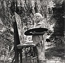 Mary Elizabeth Price at her easel.jpg