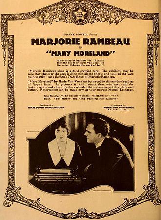 Mary Moreland - Ad for film