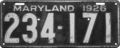 Maryland license plate, 1926.png