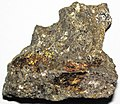 Massive Pt-Pd-rich sulfide (platinum-palladium ore) (Johns-Manville Reef, Stillwater Complex, Neoarchean, 2.71 Ga; Stillwater Mine, Beartooth Mountains, Montana, USA) 6.jpg