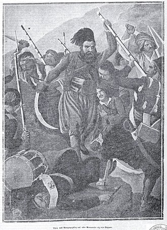 Ottoman–Egyptian invasion of Mani - The Battle of Vergas as depicted by Peter von Hess.