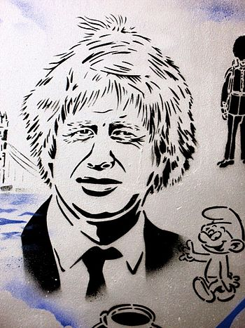 Boris Johnson graffiti