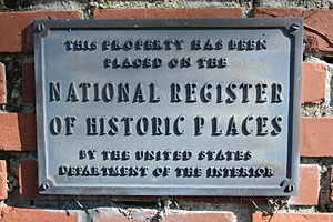 National Register of Historic Places - NRHP marker