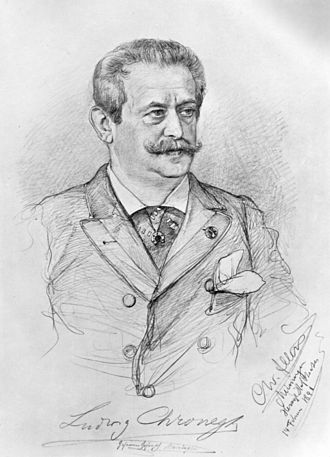 Ludwig Chronegk - Ludwig Chronegk, 1890, by C.W.Allers