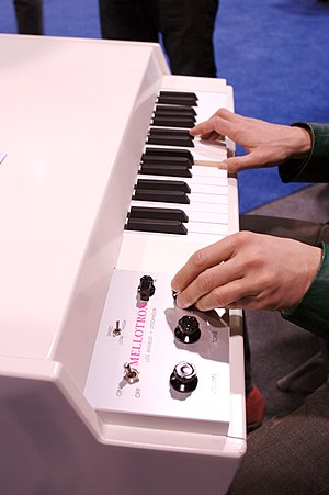 Electronics in rock music - A Mellotron, an early form of music sampler, used extensively in the late 1960s and early 1970s