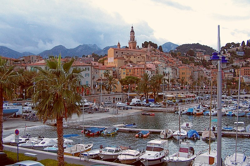 File:Menton Old Town and Harbour.jpg