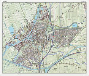 Meppel - Dutch Topographic map of Meppel (city), March 2014