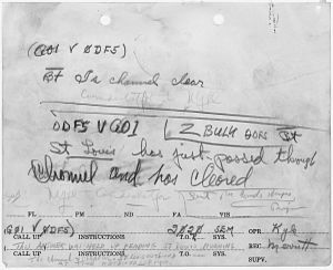 USS St. Louis (CL-49) - Image: Message pertaining to the attack on Pearl Harbor. NARA 296806
