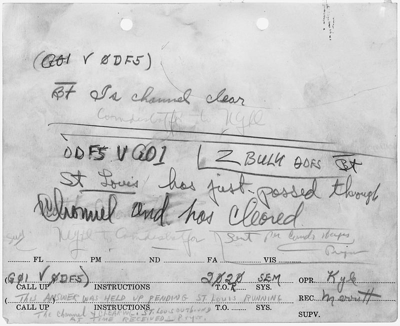 Message pertaining to the attack on Pearl Harbor. - NARA - 296806.jpg