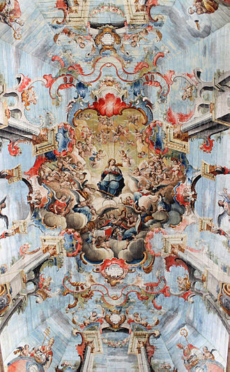 """Church of Saint Francis of Assisi (Ouro Preto) - """"Glorification of Our Lady Among Musician Angels"""" by Mestre Ataíde"""