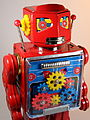 Metal House Battery Operated New Gear Robot 2010 Close Up.jpg