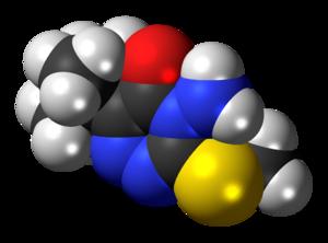 Metribuzin - Image: Metribuzin 3D spacefill