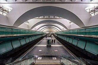 Zyablikovo (Moscow Metro) - Image: Metro MSK Line 10 Zyablikovo