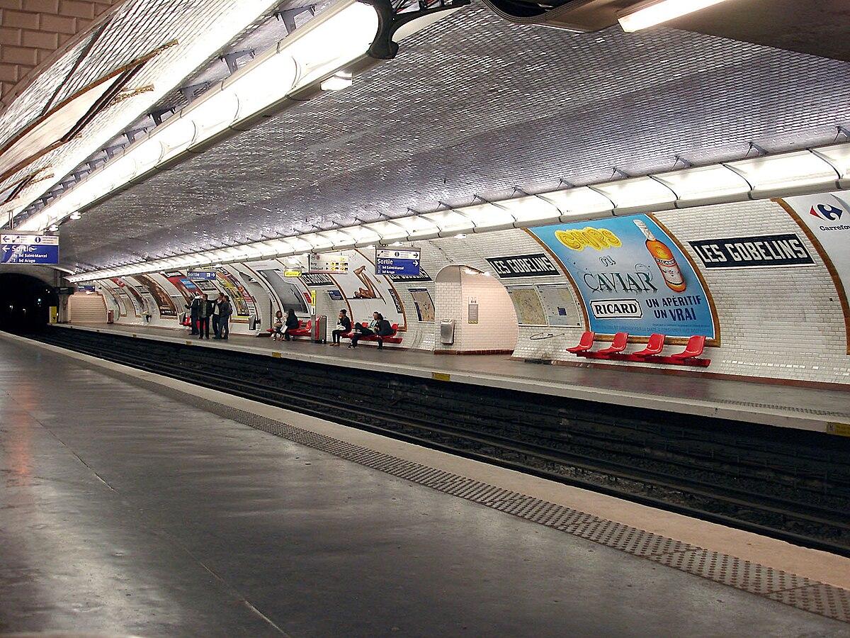 les gobelins metropolitana di parigi