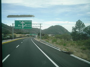 Mexican Federal Highway 15 - A road sign on Mexican Federal Highway 15