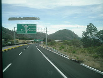 Mexican Federal Highway 15 - A road sign on Fed. 15