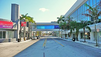 Miami Design District - Northern entrance to Design District