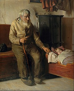 Michael Ancher - Blind Kristian minding a child - Google Art Project