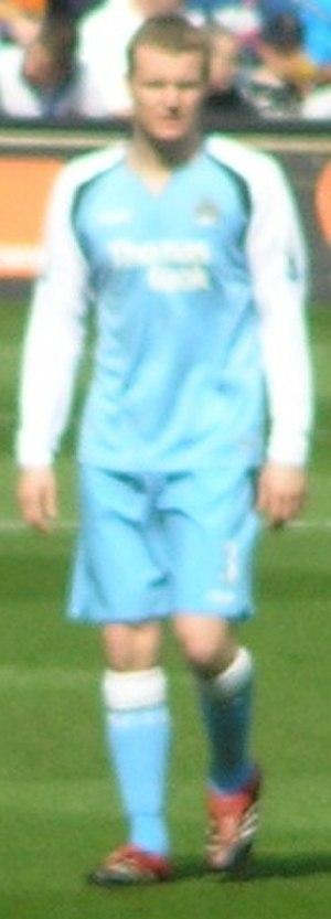Michael Ball (footballer) - Ball playing for Machester City