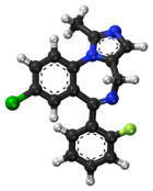 Midazolam ball-and-stick model.png
