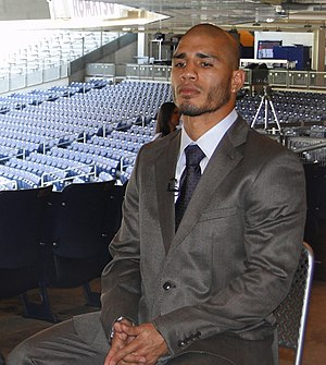 English: Miguel Cotto at the Yankee Stadium on...