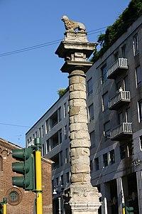 Milano - San Babila - Giuseppe Robecco, Colonna (1626) - Foto Giovanni Dall'Orto 23-June-2007 - 03.jpg