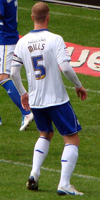Matt Mills - Mills playing for Leicester City against Cardiff City